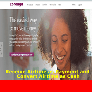 Zoranga - Receive Airtime as Payment and Convert Airtime To Cash