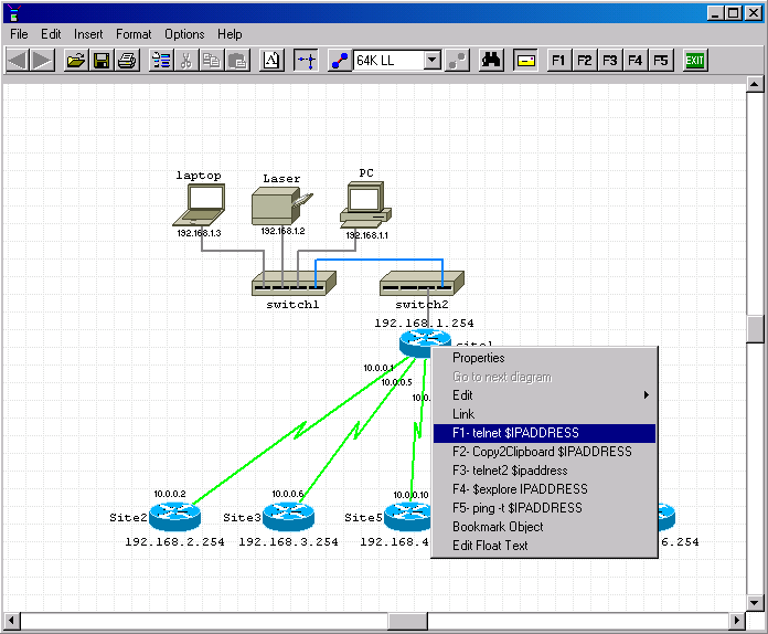 Draw Network Diagram Using Network Notepad