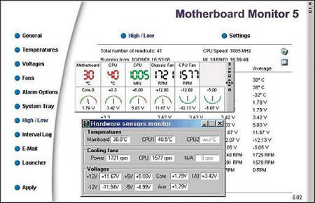 motherboard monitor- free motherboard benchmarking tool