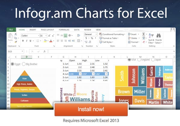 Graphic Tree Diagram Create Infographics With Infogram Charts On Microsoft Excel