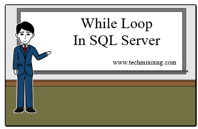 While loop in SQL server