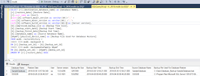 DB recovery 4 SQL Script: - How to find the database restoring history of SQL Server databases DBA Scripts