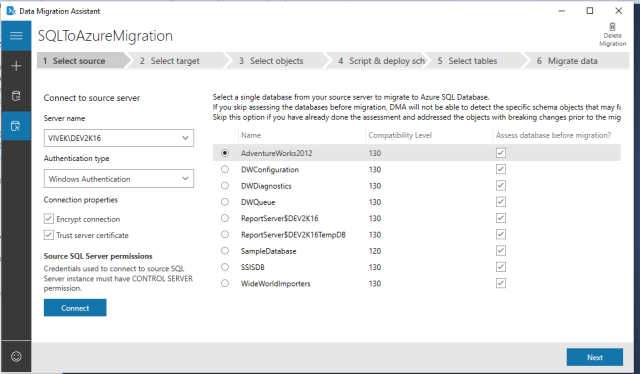 Figure-15 Select the source database