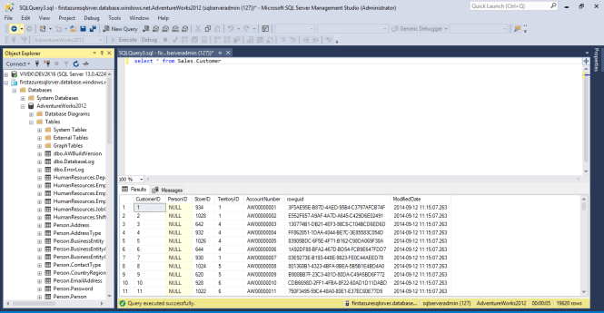 Executing SQL Query against the imported database