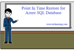Point In Time Restore for Azure SQL Database Point In Time Restore for Azure SQL Database Azure