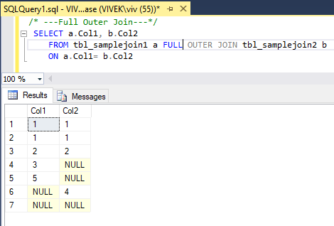 FullOuterJoin 2 SQL Joins Tricky Interview Questions