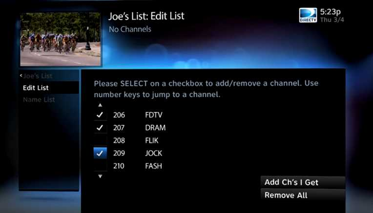 Tv Channels Guide List Direct