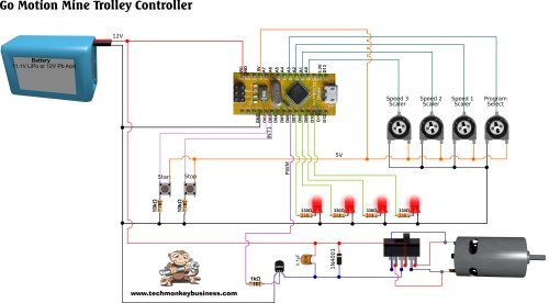 small resolution of dc motor motion sequence controller circuit diagram