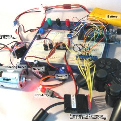 Playstation 2 To Usb Wiring Diagram Ps2 Keyboard Color Using A Controller With Your Arduino Project The Components On Breadboard