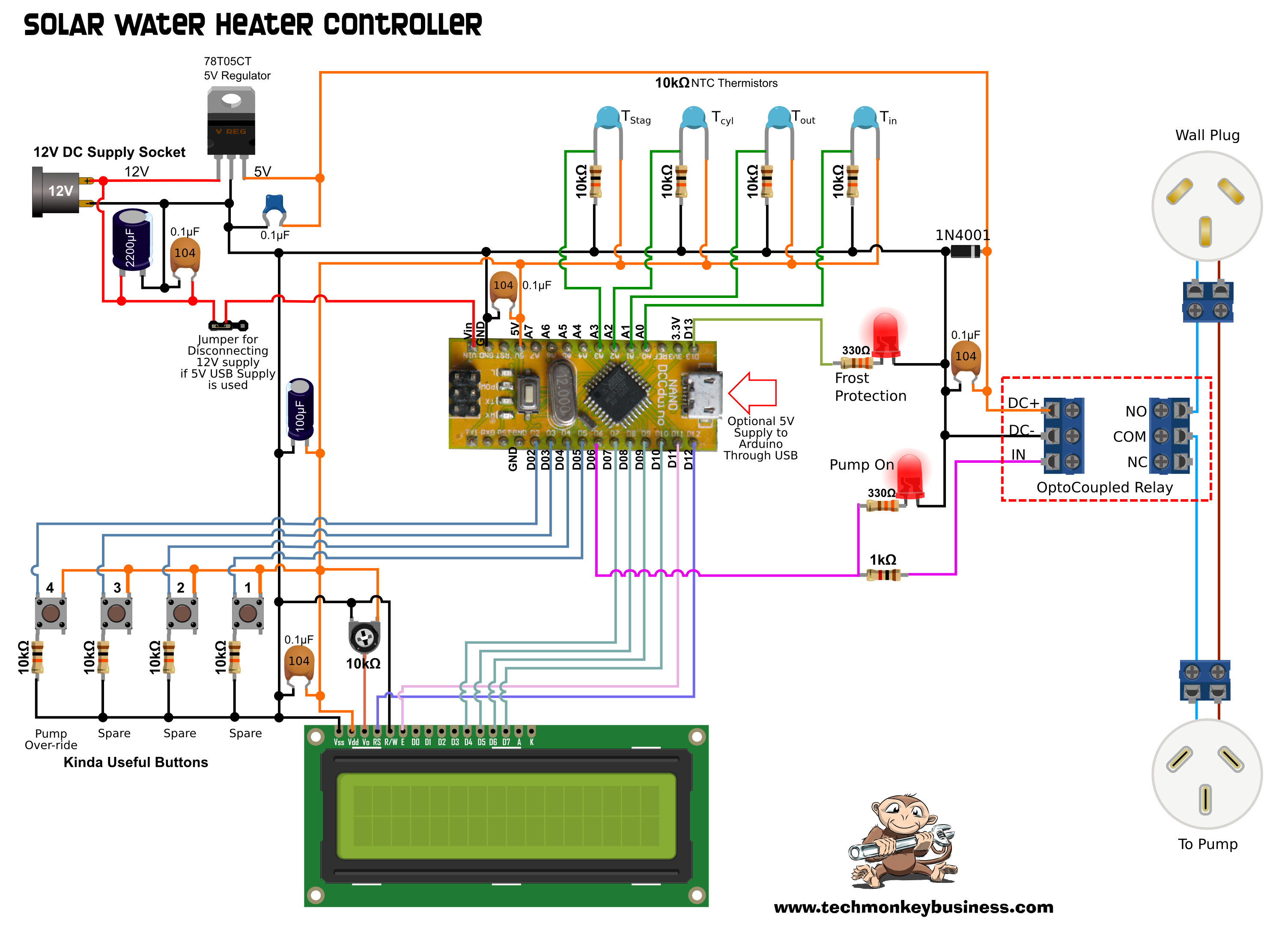 solar water heater schematic diagram pig dissection blank the controller in real world