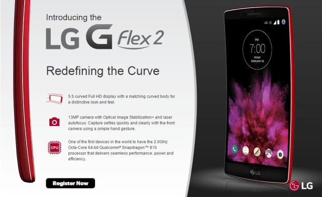 LG G Flex 2 from Sprint