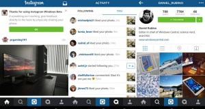 Instagram for Windows 10