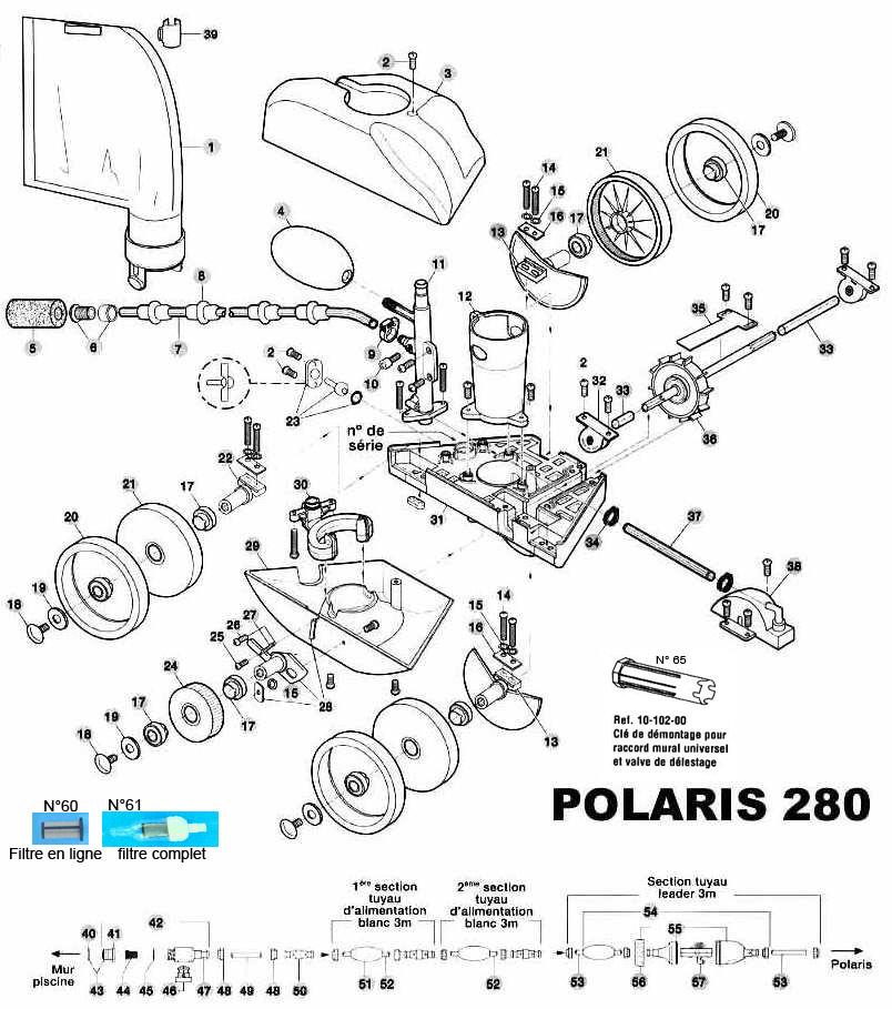 BALAI AUTOMATIQUE POLARIS 280