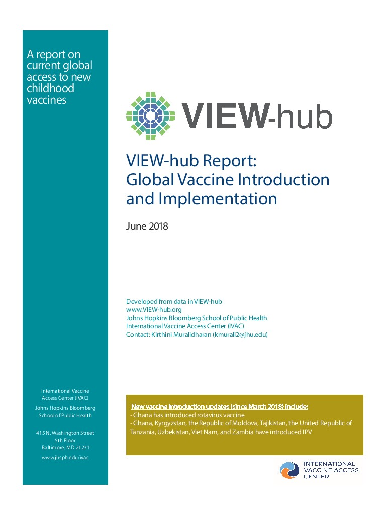 June 2018 View-Hub Report On Global Introduction And Implementation