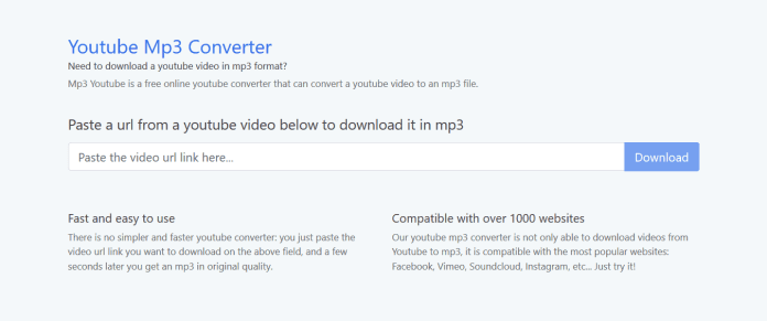 paste url to make youtube to mp3 by itubego