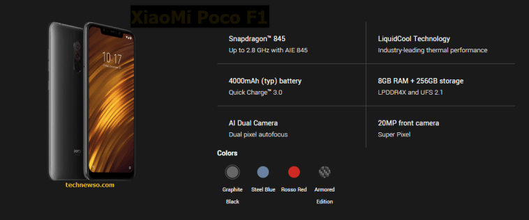xiaomi poco f1 price and specifications