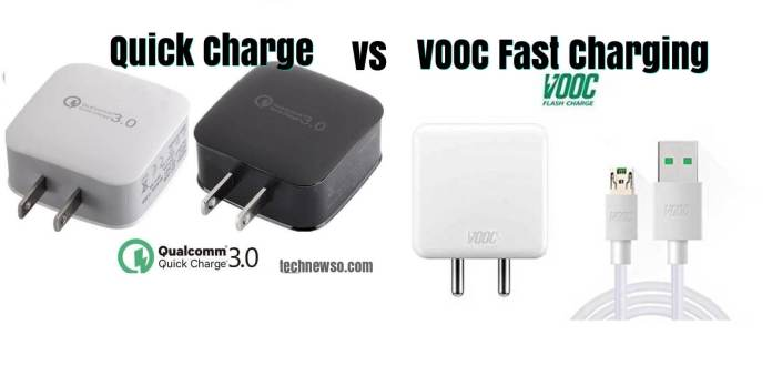 what is the difference bw fast charging Voock Flash charging