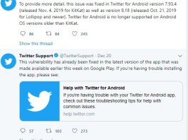 twitter for android malware data theft
