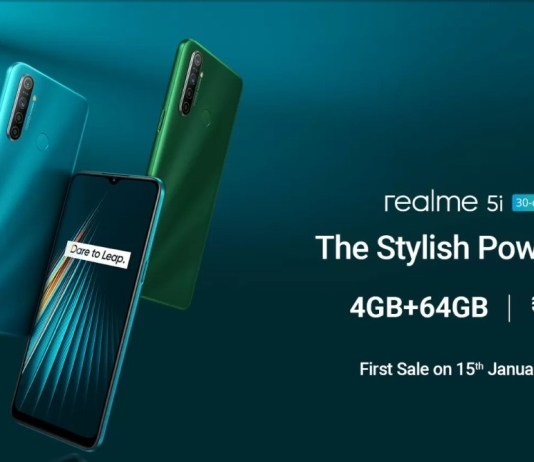 real me 5i price specifications