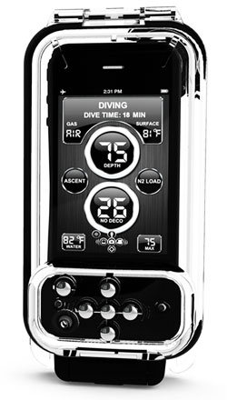 dive computers,  iGills, a system that with an app and a waterproof case turns an iPhone into a dive computer