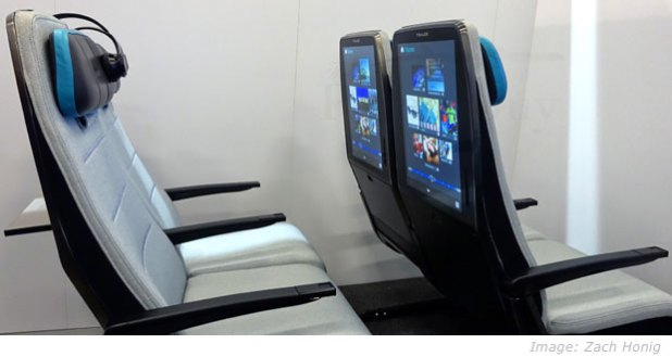 digital sky in-flight entertainment display