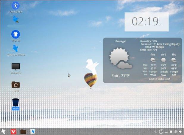 Feren OS Cinnamon desktop