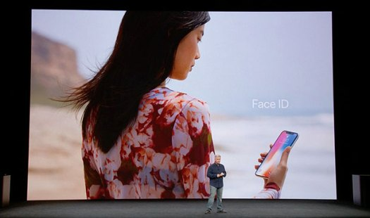 iPhone X Face ID presented by Phil Schiller