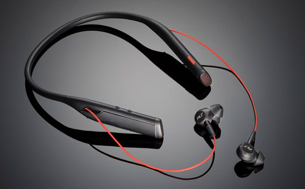 Plantronics Voyager 6200 UC Bluetooth neckband headset with earbuds