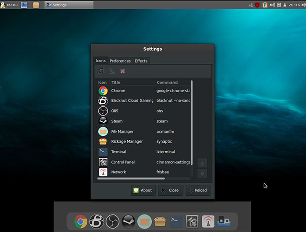 Simplitate Linux Panou Scorțișoară și doc