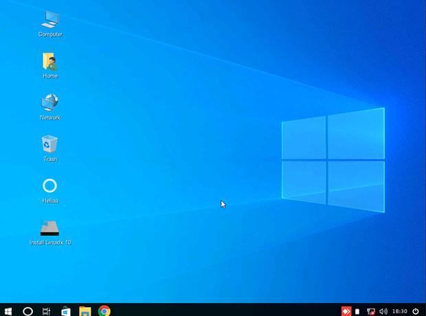 Linuxfx 10 desktop
