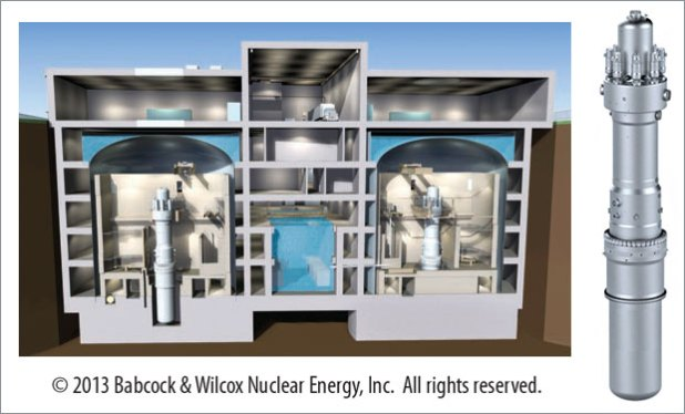 underground containment structure housing two B&W mPower reactor modules