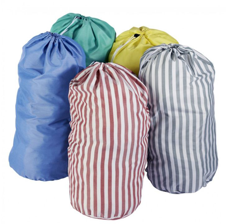 Sac A Linge Raye En Polyester Commandez Sur Techni Contact Collecte Linge Sale