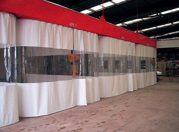 rideau souple de protection industriel