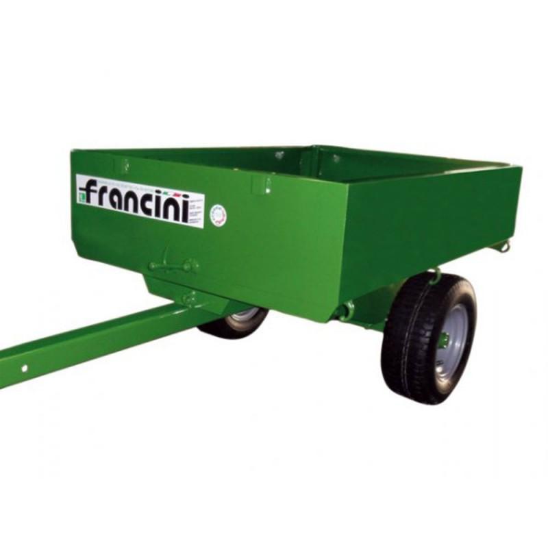 Remorque pour tracteur tondeuse adaptable facilement
