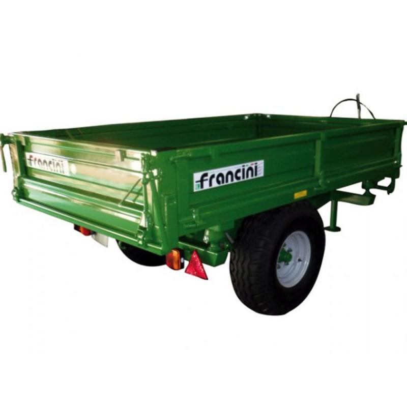 Francini F 30  Remorque pour tracteur  Charge 2200 kg Jardinage Remorques Micro tracteur