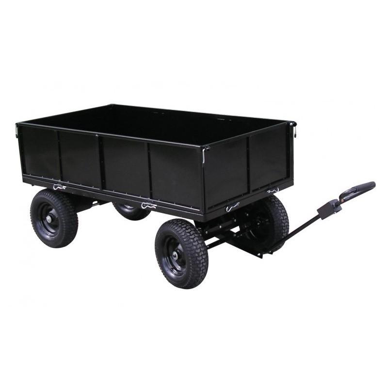 jardinage remorques remorque plateau roues en acier peint lawnboss pour tracteurs tondeuses auto
