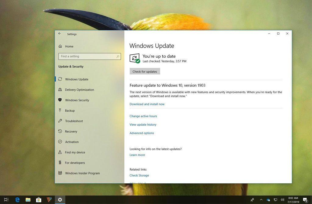 Windows 10 Sürüm 1803 Otomatik Olarak 1903 Sürümüne Yükseltiliyor