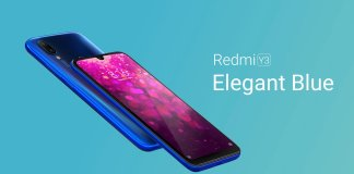 redmi y3 blue