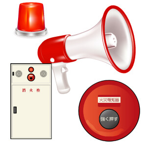 自動火災報知設備の感知器の故障、工事は愛知県下名古屋市、豊田市、安城市、刈谷市など承ります