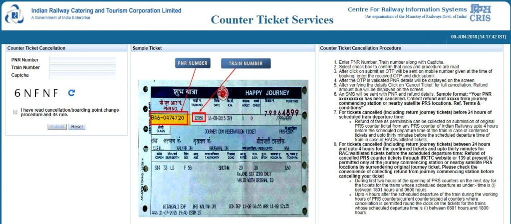 Railway-Counter-Ticket-Cancellation-Online-Karein