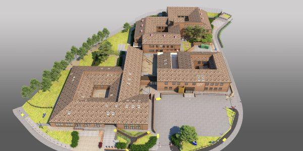 3D model of St Peter's Hospital in Chertsey, Surrey