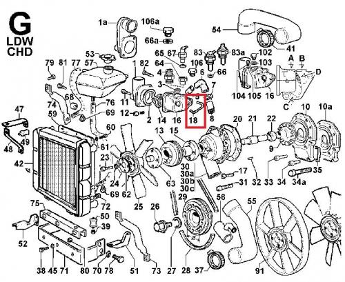 Joint boitier thermostat chd ldw1503 ldw1603 ldw2004