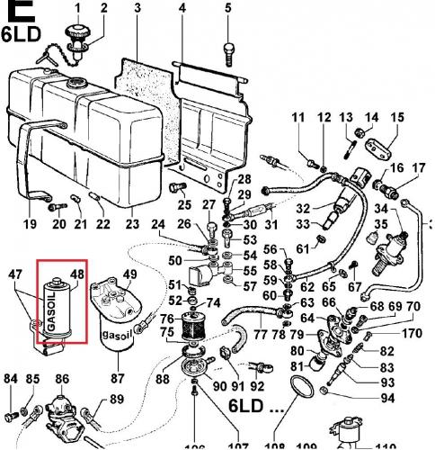 Fuel filter 6ld325 6ld326 lombardini 2175186 ed0021751860-s