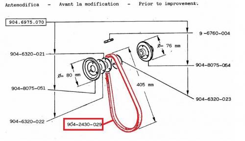 Belt 8ld600-2 8ld665-2 904 914 lombardini fan belt