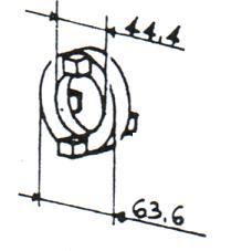 Accouplement 5ld 8ld 9ld 11ld lombardini 4240028