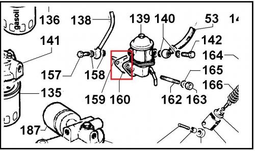 Joint pompe gasoil 6585051 lombardini