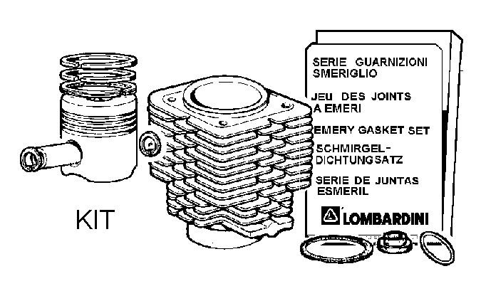 Kit cylindre + piston 4ld640 lda96 [4898003] (piston