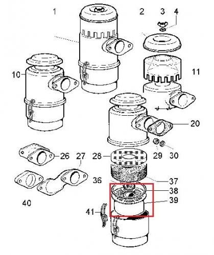 Element filtre air 3ld450 3ld510 6ld260 6ld325 6ld360