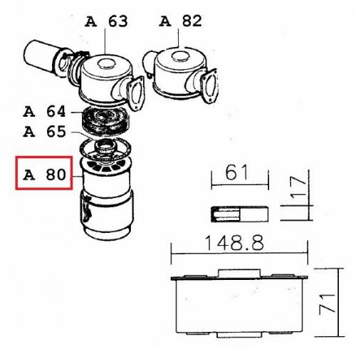 Masse filtrante 8ld 9ld 12ld lombardini 5496075