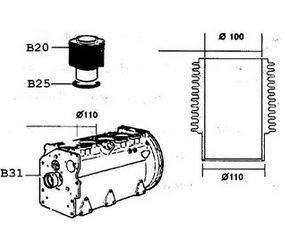 Kit cylindre + piston + pochette rodage fin0835kit